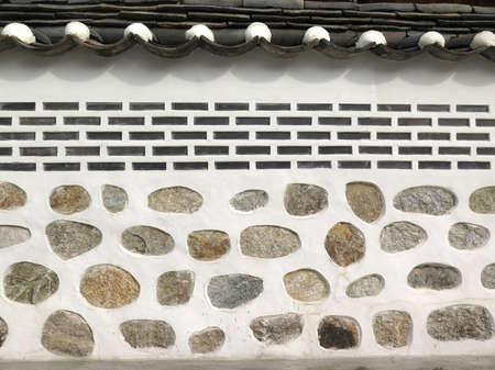 korean style house: brick wall texture, Korean style