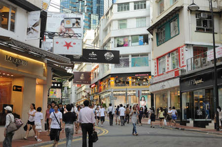 HONGKONG, CHINA - JULY 10 : Hongkong downtown , Times Square area taken July 10, 2009. This district is full of brand name shops.