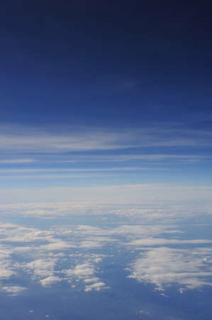 blue sky with cloud from airplane Stock Photo