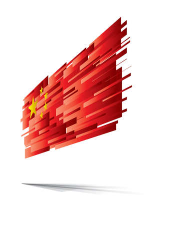 Chinese flag abstract