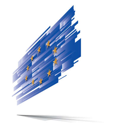 evropský: EU Evropská vlajka abstraktní Ilustrace