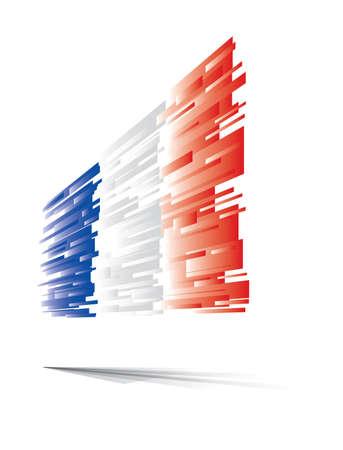 flag of france: France flag abstract