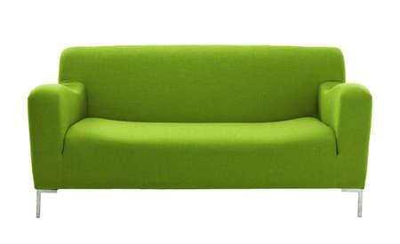 白い背景で隔離のソファ家具 写真素材