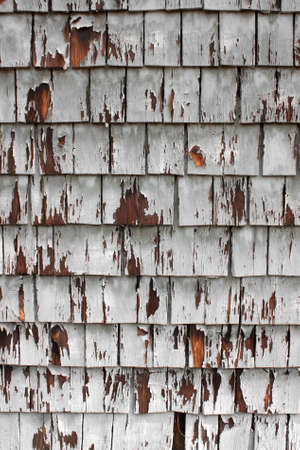 Weathered Wood Shingles On Side Of Building Stock Photo - 17114286