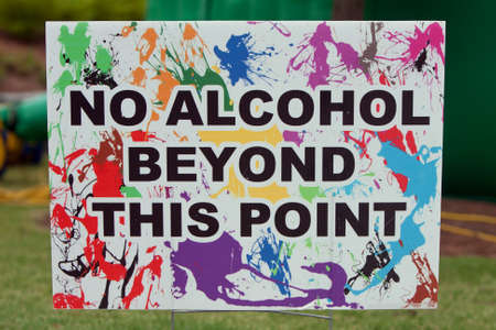 warns: Sign At Festival Warns No Alcohol Beyond This Point