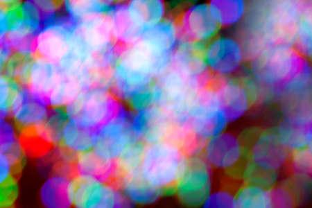 Holidays lights create colorful bokeh background Stok Fotoğraf
