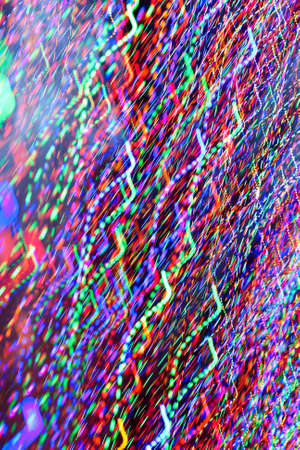 Pan of Colorful Holiday Lights Creates Electric Confetti Pattern