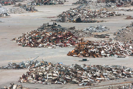 worthless: Piles of twisted metal, broken concrete and debris litter a demolition site.
