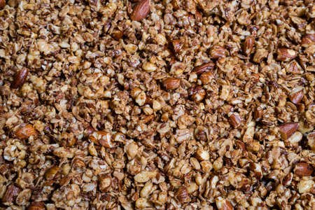 homemade granola with lots of nuts