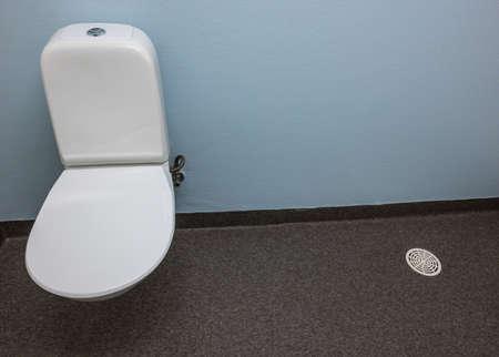 toilet stool in a public restroom in Sweden