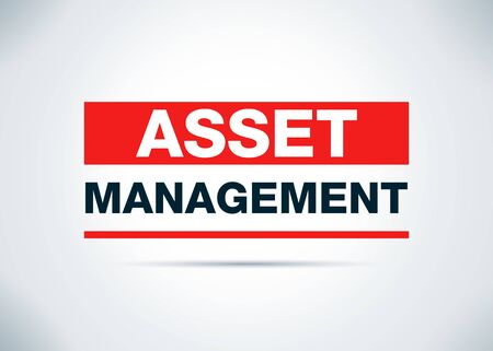 Asset Management Isolated on Abstract Flat Background Design Illustration