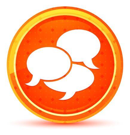 Conversation icon isolated on natural orange round button