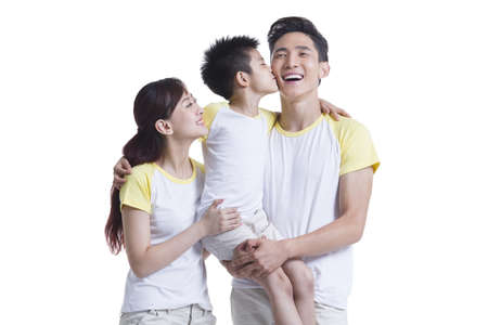 Sweet young family
