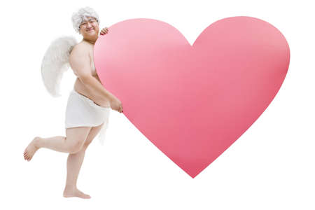 lipid: Chubby angel with a big heart shape