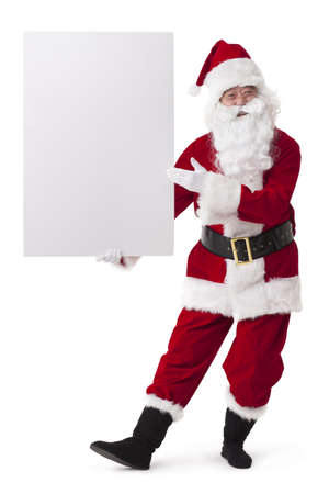 Santa Claus with blank whiteboard LANG_EVOIMAGES