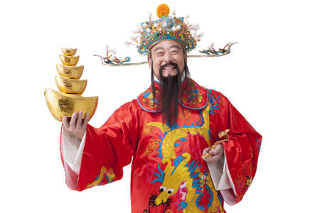 Chinese God of Wealth celebrating Chinese New Year LANG_EVOIMAGES