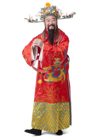 Chinese God of Wealth greeting for Chinese New Year LANG_EVOIMAGES