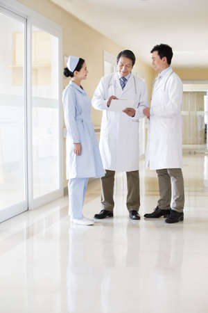 Medical team in discussion