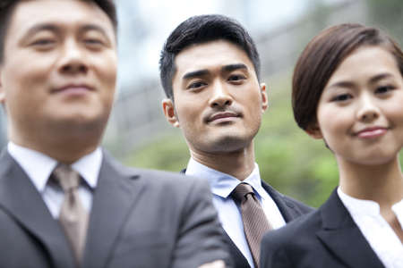 business: Professional businessman with his team in Hong Kong
