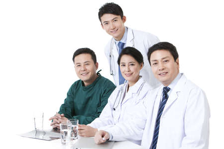 operating table: Cheerful professional medical team at work LANG_EVOIMAGES