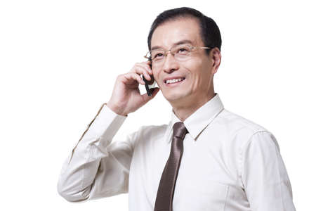 Successful businessman on the phone