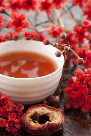 Chinese specialty hawthorn juice with wintersweet flower