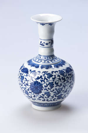 Traditional Chinese blue and white porcelain vase