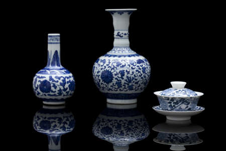 Traditional Chinese blue and white porcelain