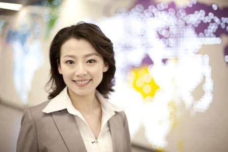 Portrait of businesswoman in commute