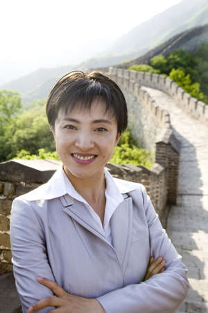 Businesswoman on the Great Wall