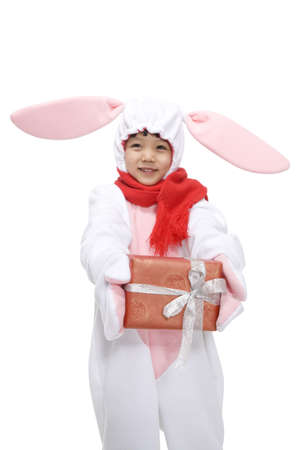 Little  boy celebrating the Year of the Rabbit