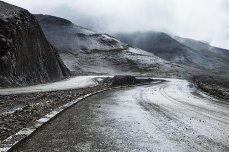 Winding road in Tibet, China