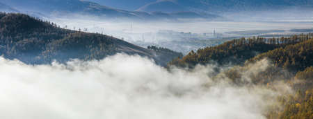 Natural Scenery of Aershan covered by fog,China LANG_EVOIMAGES