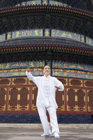 Senior Woman Practicing Tai Chi, Temple of Heaven