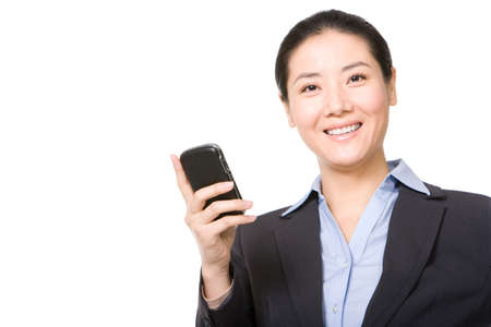 businessowman: Businessowman using mobile phone
