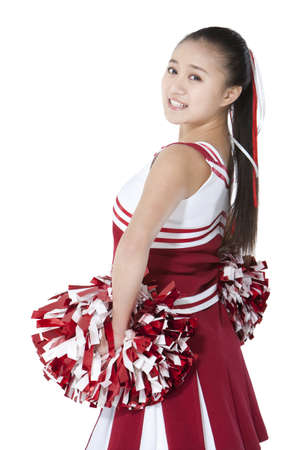 Portrait of a cheerleader in red