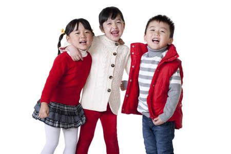 only boys: Three Chinese children