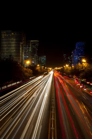 Night view of Beijing street,China LANG_EVOIMAGES