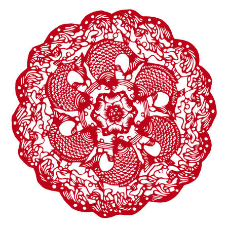 lucky charm: Chinese Traditional Paper cutting