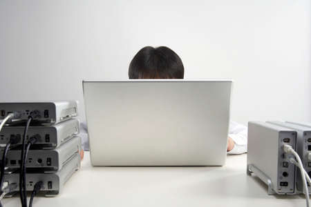 wasting away: A busy office worker