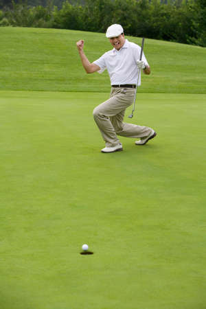 Golfer Celebrating a nice putt