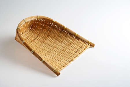 wicker work: A bamboo wicker scoop