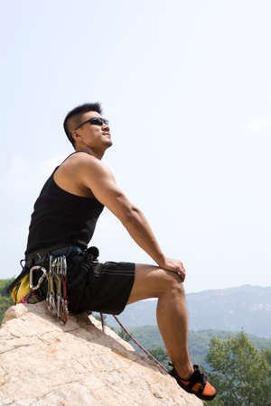 outdoor sport: Rock climbing LANG_EVOIMAGES