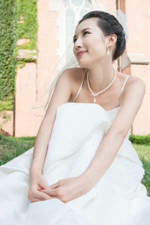 A young bride on her wedding day