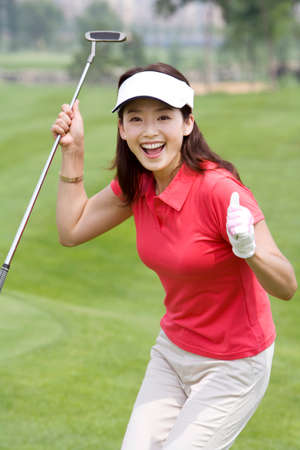 Portrait of a Female Golfer LANG_EVOIMAGES