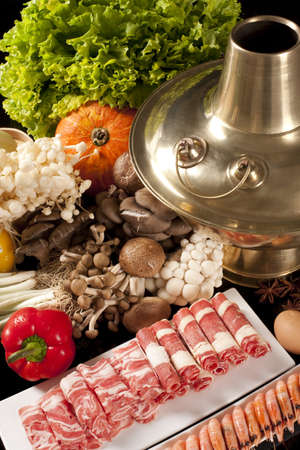chafing dish: Close-up of Chinese hot-pot LANG_EVOIMAGES