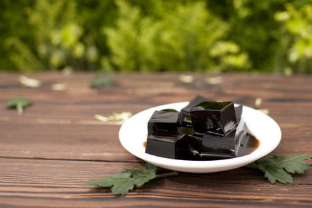 food: Chinese food—tortoise herb jelly