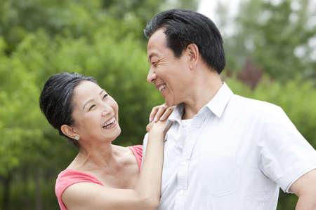 Senior couple in park LANG_EVOIMAGES