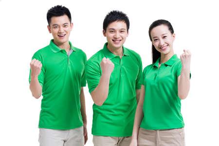 Excited volunteers gesturing LANG_EVOIMAGES