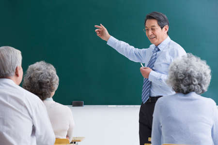 looking for job: Senior adults having class at school